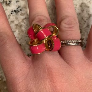 Lilly Pulitzer pink bow ring 🎀